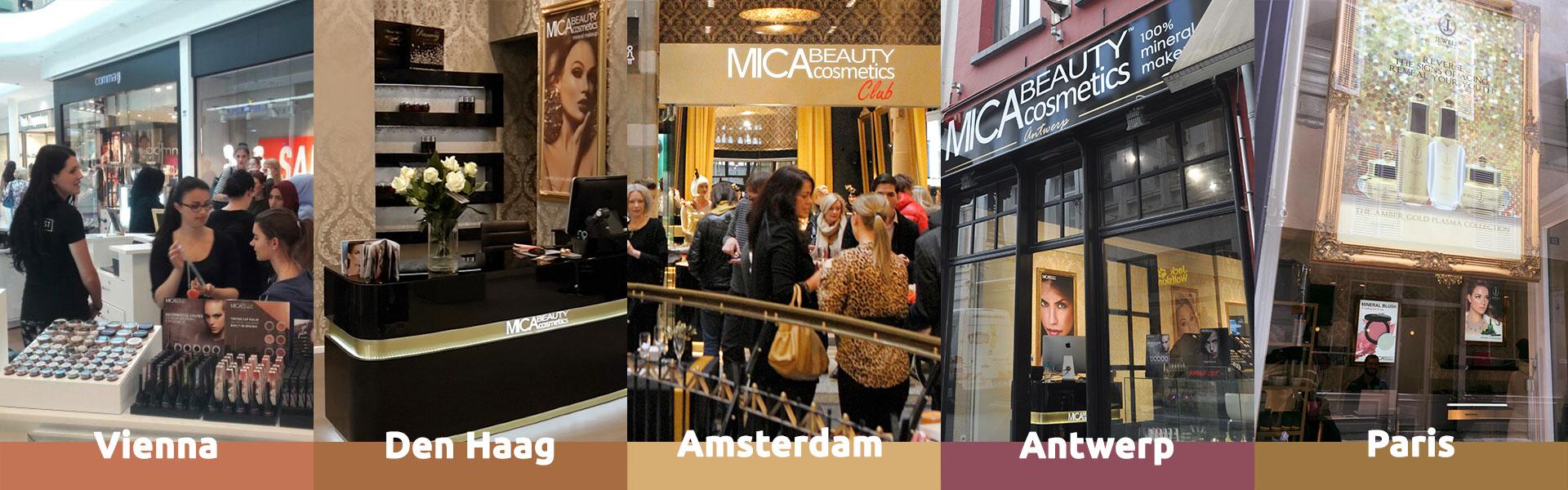 MICAbeauty Shops Across Europe