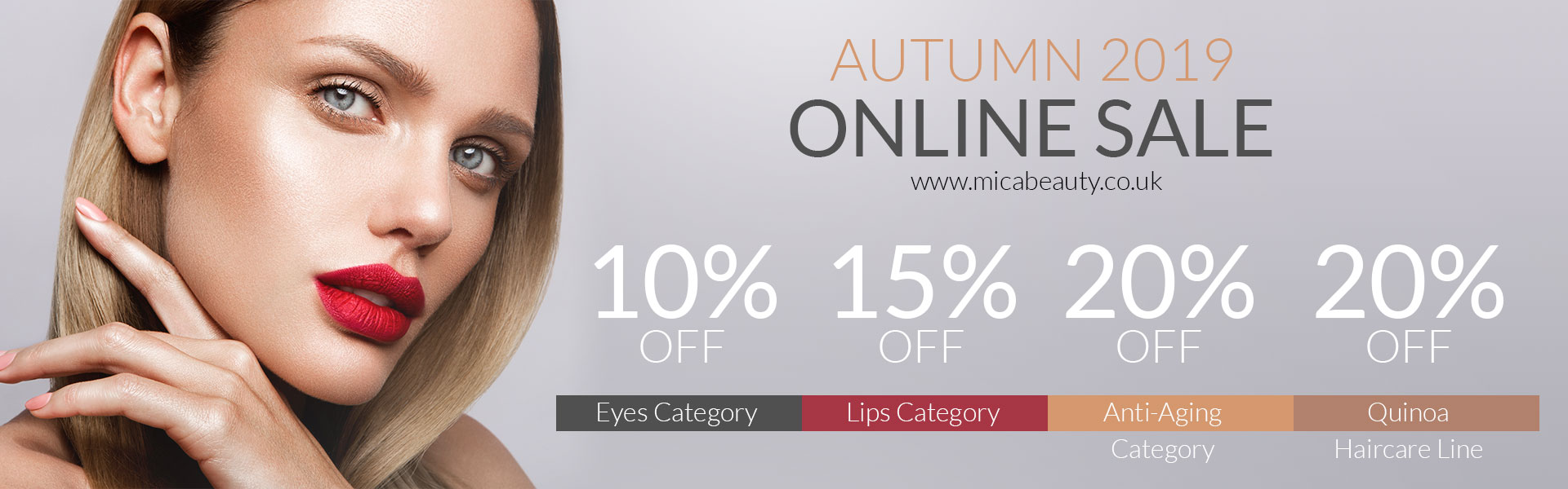 Autumn Sale on Micabeauty UK